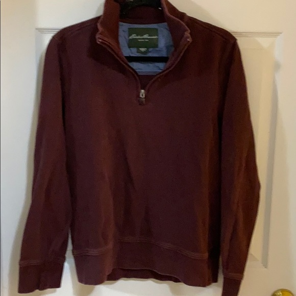 Eddie Bauer men's 1/4 zip sweatshirt size small